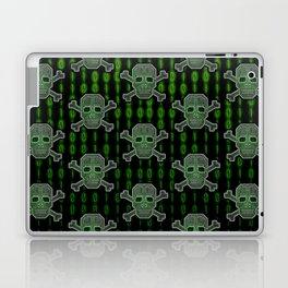 Hacker Skull Crossbones (pattern version) Laptop & iPad Skin