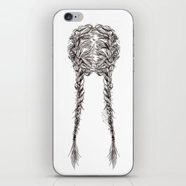 Parted French Braids iPhone Skin