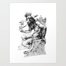 Goat King Art Print