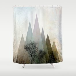 TREES IV Shower Curtain