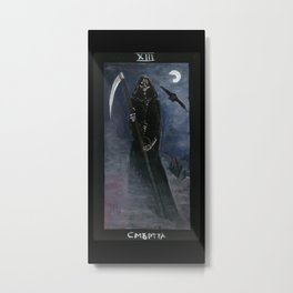 Tarot card Death XIII Metal Print