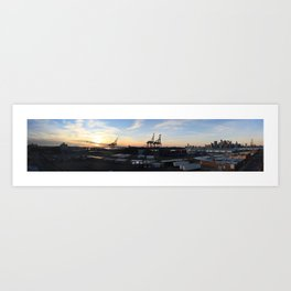 Red Hook Sunset Art Print
