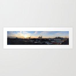 Red Hook Sunset Art Print