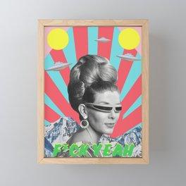 F*ck Yeah Framed Mini Art Print