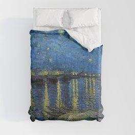 Vincent Van Gogh - Starry Night Over the Rhone Duvet Cover