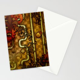 Noble Steampunk design, clocks and gears Stationery Cards