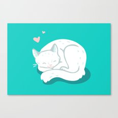 White Kitty Canvas Print