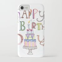 happy birthday iPhone & iPod Cases featuring Happy Birthday by Brooke Weeber