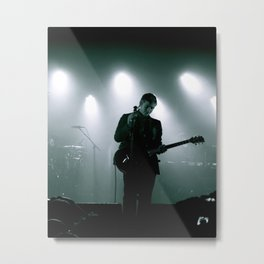 Paul Banks / Interpol at Terminal 5 New York City B&W Metal Print