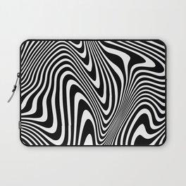 optical illusion (black + white) Laptop Sleeve