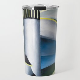 Variation on a Lighthouse landscape painting by Ida O'Keeffe Travel Mug