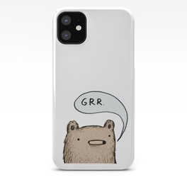 Growling Bear iPhone Case
