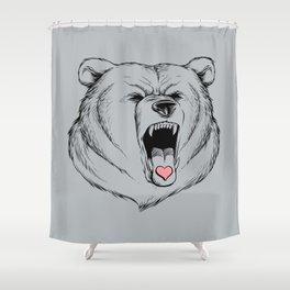 Universal Language Bear Love Shower Curtain