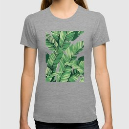 Tropical banana leaves V T-shirt