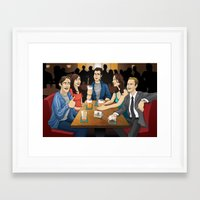 how i met your mother Framed Art Prints featuring How I Met Your Mother by Michael Duhamel