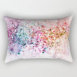 Purple Watercolour Rain Rectangular Pillow