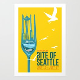 Bite of Seattle Art Print