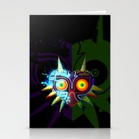 majoras mask Stationery Cards featuring Majora's Mask - Twili by brit eddy