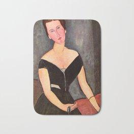 """Amedeo Modigliani """"Portrait of Madame Georges Van Muyden.jpg Bath Mat"""