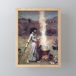 THE MAGIC CIRCLE - JOHN WILLIAM WATERHOUSE Framed Mini Art Print