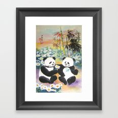 evening love story Framed Art Print