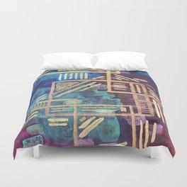 Aztec Gold Tribal Pattern Duvet Cover