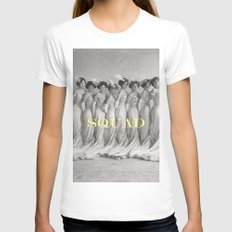 SQUAD White MEDIUM Womens Fitted Tee