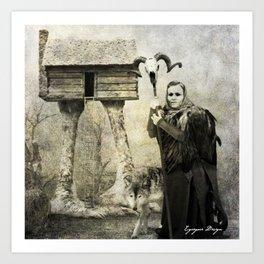 Dark Victorian Portrait Series: Baba Yaga Art Print