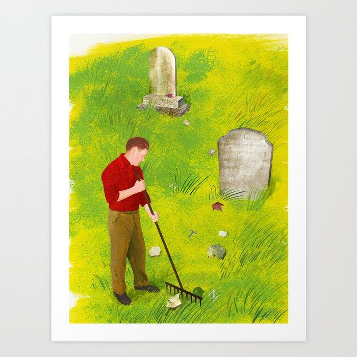 """""""The Gravekeeper's Paradox"""" by Ellen Weinstein for Nautilus Art Print"""