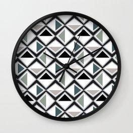 Gray Asymmetry Wall Clock