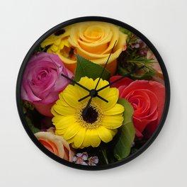 Elegant Spring Floral Bouquet Wall Clock