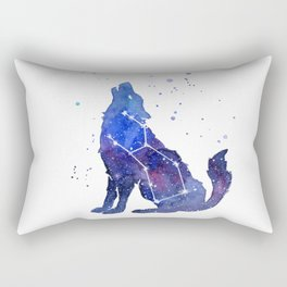 Galaxy Wolf Lupus Constellation Rectangular Pillow
