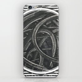 Junction - line/circle graphic iPhone Skin