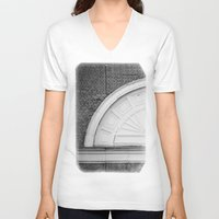 theatre V-neck T-shirts featuring Theatre in a Wall by cinema4design