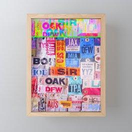 text travel Framed Mini Art Print