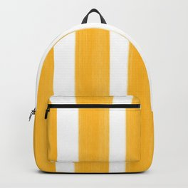 Sunny Yellow Paint Stripes Backpack