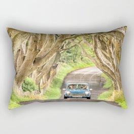Mini Dash,Dark Hedges,Ireland,Northern Ireland,Landscape Rectangular Pillow