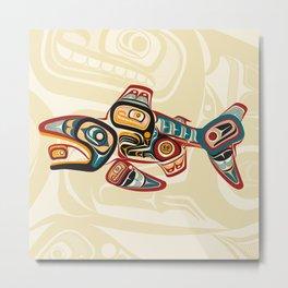 Haida Salmon Story Metal Print