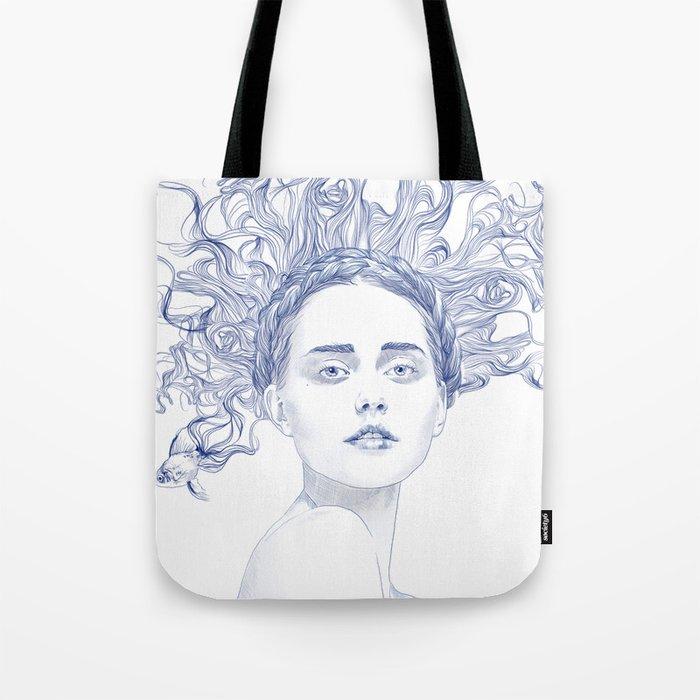 Blue Summer Tote Bag