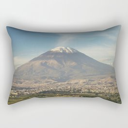 City of Arequipa in Peru with its iconic volcano Misti Rectangular Pillow