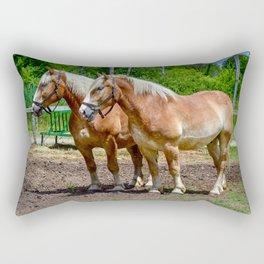 """""""Equine Duo"""" Rectangular Pillow"""