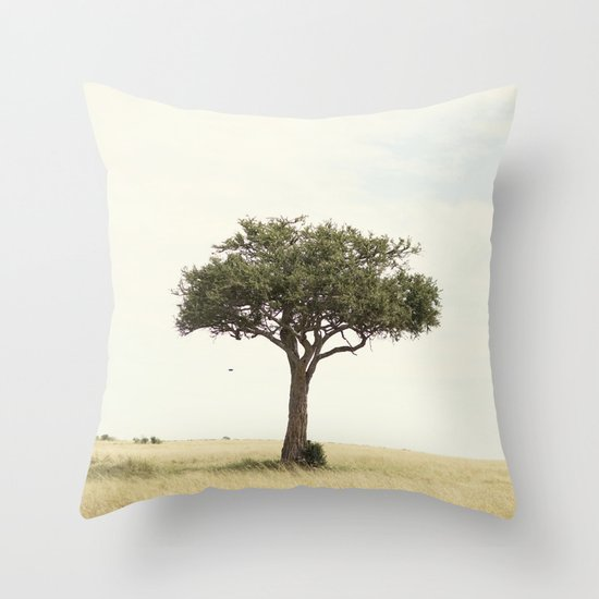 tree hugger::kenya Throw Pillow