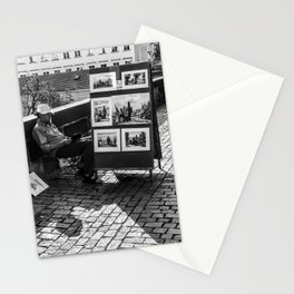 Resting Man With Sun Hat Stationery Cards