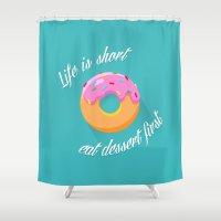 dessert Shower Curtains featuring Dessert by ministryofpixel