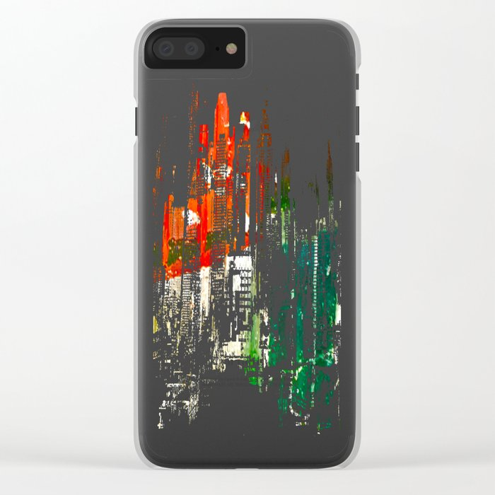 City Aflame and Drowning Clear iPhone Case