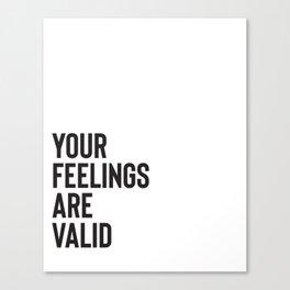 Validation Canvas Print