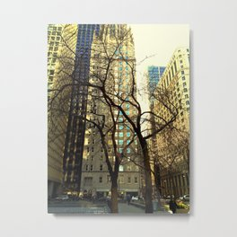 Tree versus Scraper #3 Metal Print