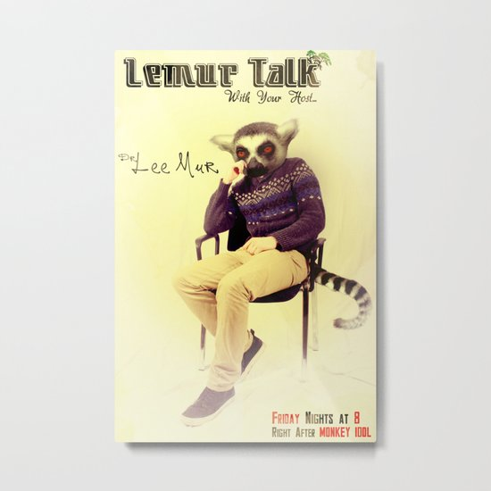Lemur Talk Metal Print