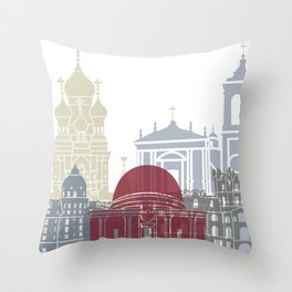 Nice skyline poster Throw Pillow