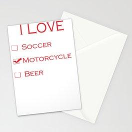 I love motocycle Stationery Cards